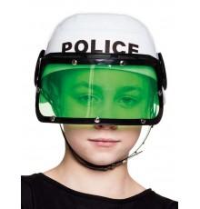 Casque police blanc enfant