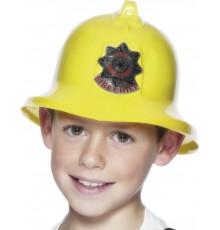 Casque pompier jaune