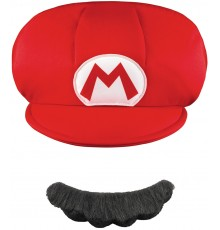 Casquette et Moustache Mario Enfant