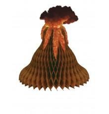 Centre de table en papier alvéolé Volcan 38 cm