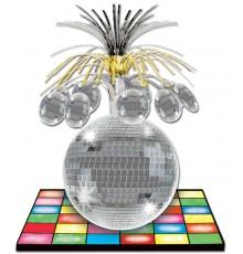 Centre de table piste de danse et boule disco 33 cm