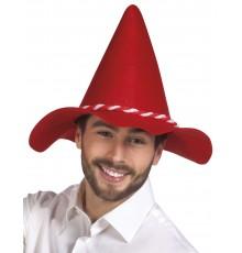 Chapeau bavarois pointu rouge