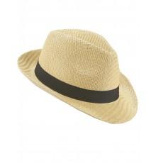 Chapeau borsalino écru avec bande noire