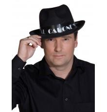 Chapeau Borsalino Al Capone Noir en Feutrine