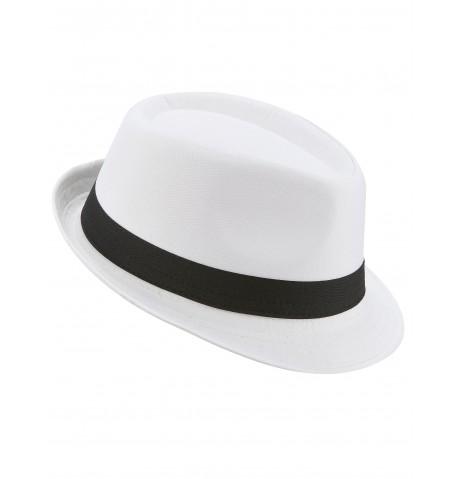 Chapeau Borsalino en Tissu épais Blanc