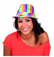 Chapeau Borsalino à Sequins Multicolore