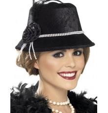 Chapeau Charleston Noir pour Dame
