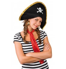 Chapeau Chef des Pirates en Polyester