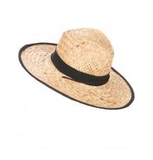 Chapeau Cowboy avec bande et rebord noirs adulte