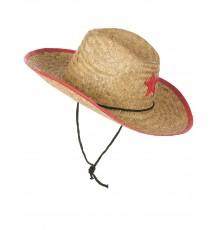 Chapeau cowboy de l'ouest en paille enfant