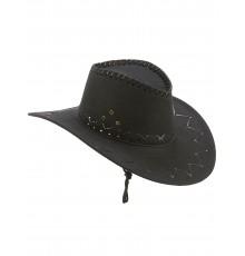 Chapeau cowboy noir en suedine adulte