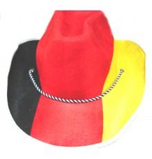 Chapeau cowboy supporter Allemagne