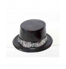 Chapeau Haut de Forme Happy New Year en Plastique