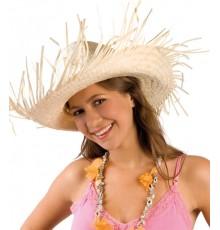 Chapeau de paille tressée Hawaï adulte