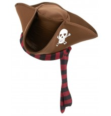 Chapeau de pirate marron adulte