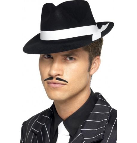 Chapeau gangster noir adulte