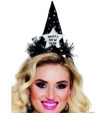 Chapeau Happy new year noir adulte