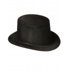 Chapeau haut de forme noir en plastique Adulte
