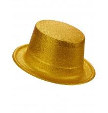 Chapeau Haut de Forme en Plastique Pailleté
