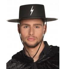 Chapeau justicier masqué adulte