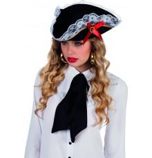 Chapeau pirate à dentelle femme