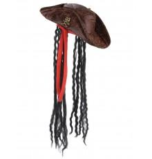 Chapeau pirate avec cheveux