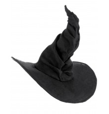 Chapeau sorcière velours noir adulte