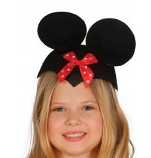 Chapeau souris avec noeud rouge rigolote enfant