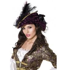 Chapeau violet pirate femme