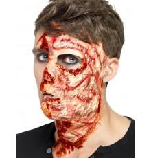 Cicatrice de brûlures latex Halloween