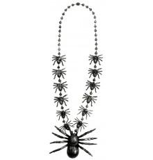 Collier araignées argentées adulte Halloween
