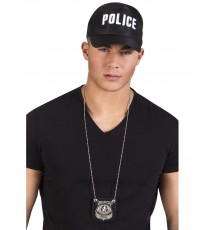 Collier badge policier adulte