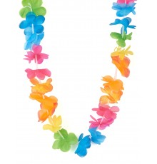 Collier Hawaï couleurs vives