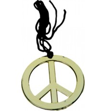 Collier hippie or adulte
