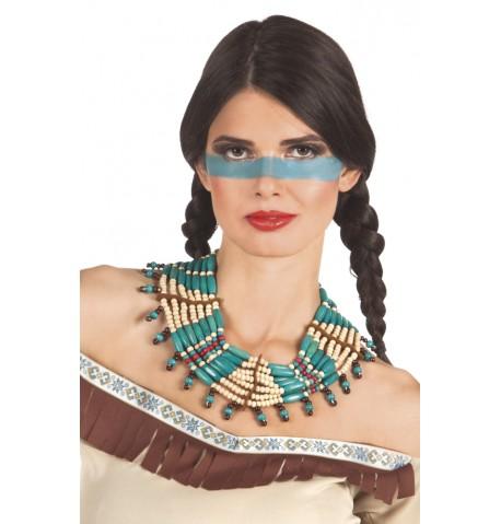 Collier indien bleu femme