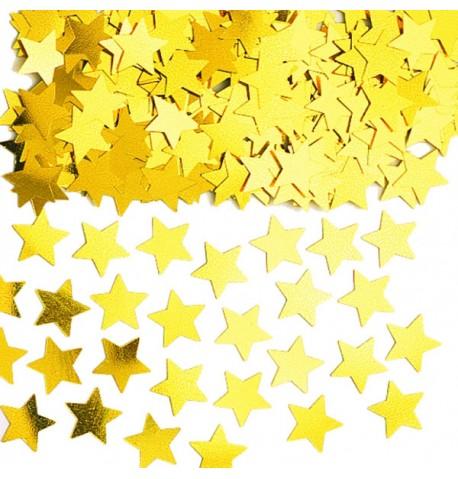 Confettis étoiles métallisés or