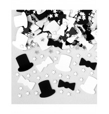 Confettis black and white