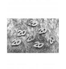 Confettis de table 20 argentés 10 gr