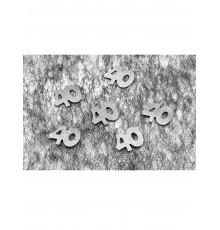 Confettis de table 40 argentés 10 gr