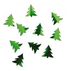 Confettis de table sapin - vert métallisé