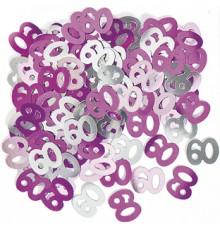Confettis rose/gris Age 60 ans