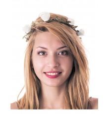 Couronne de fleurs blanches adulte