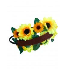 Couronne de fleurs tournesol adulte