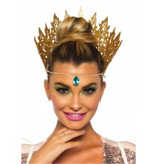 Couronne reine dorée sexy femme