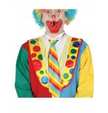Cravate clown rayée multicolore adulte
