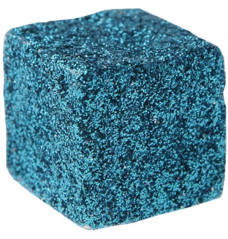 Cube pailletée Turquoise
