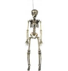 Décoration à suspendre squelette doré 42 cm halloween