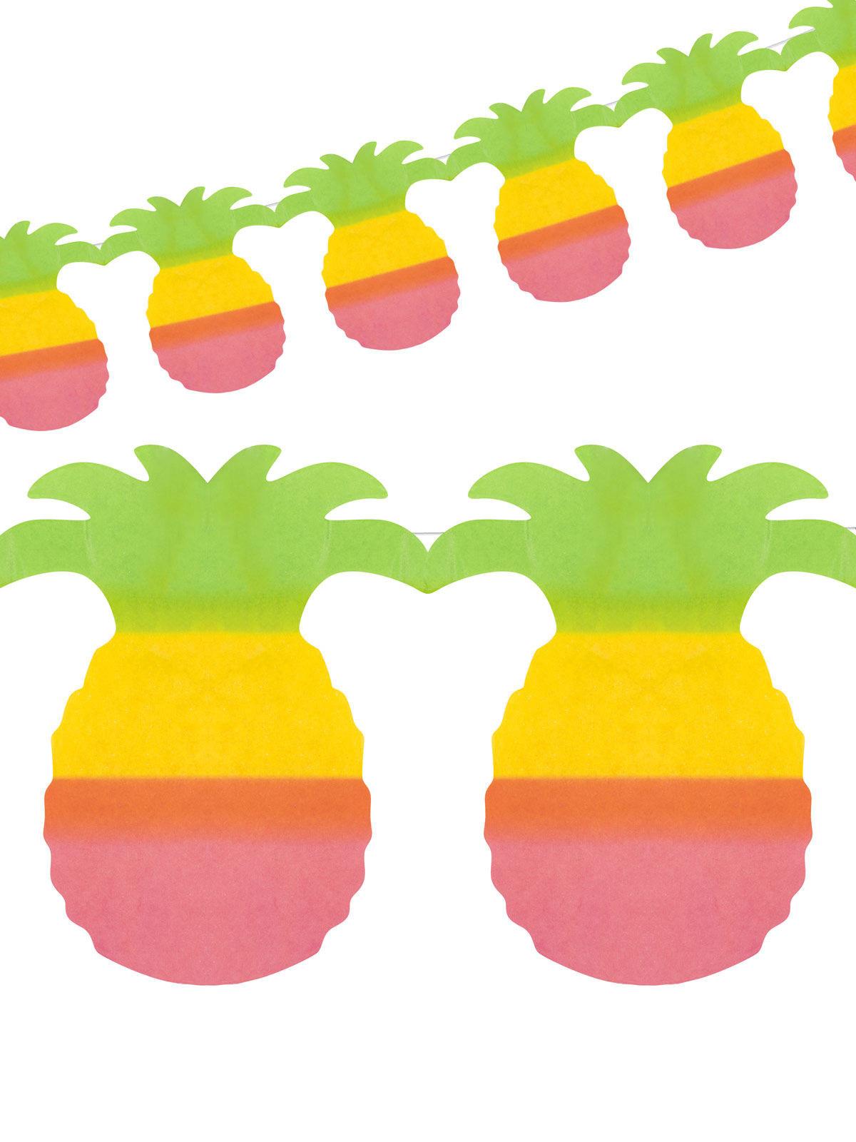 Décoration de fête hawaïenne guirlande ananas