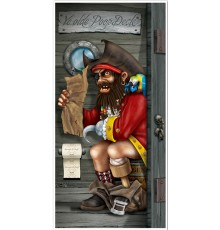 Décoration de porte Pirate au toilette 76,2 cm x 1,52 m