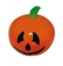 Décoration fête Halloween Citrouille gonflable orange-noir-vert 110 cm